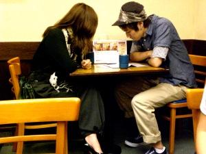 at a 天ぷらや in harajuku