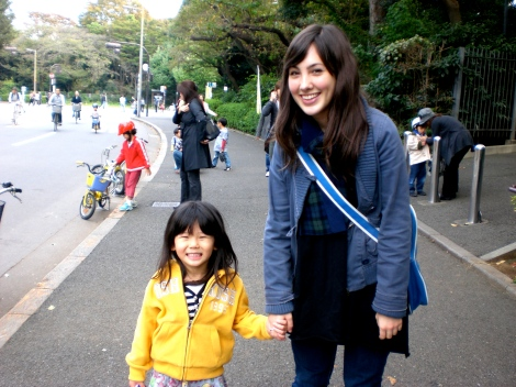 With Michelle's 4 year old niece, my new best friend and Japanese language sensei