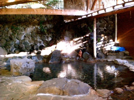 this picture didn't come out too well--there is a little waterfall that the spring water comes from but the light is blocking it