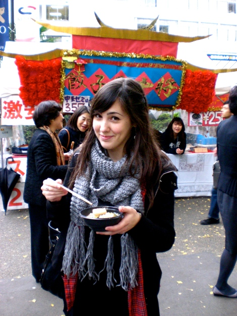 I got talked into trying INTESTINE soup by some very persistent students. it wasn't bad..
