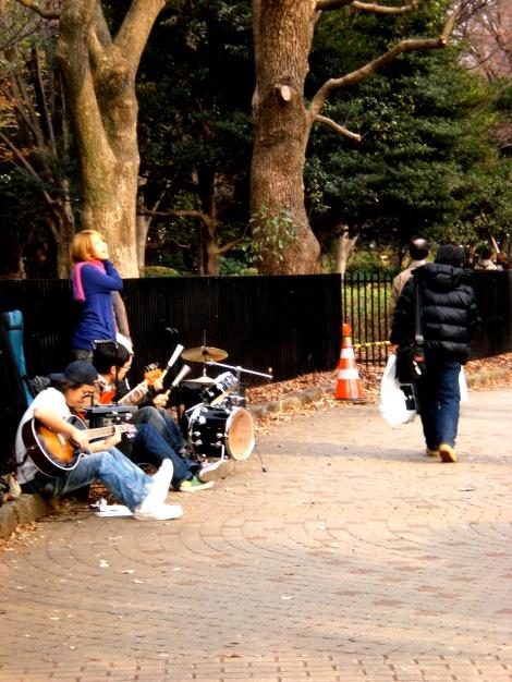 street performers in Yoyogi Park