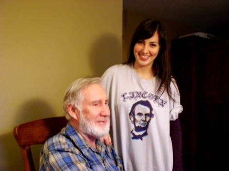 With my grandpa who recently decided to let his beard grow - hahaha.