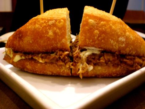 Roasted (?) Pork sandwich