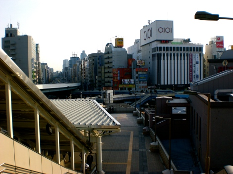 I took this same picture two years ago but lost it when my hard drive crashed. Its just outside of Ueno Station.