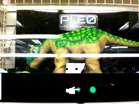 A pet dinosaur robot that responds to your touch like a loving and playful kitten - we tried this out once, it was pretty enthralling.