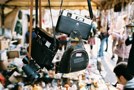 There were lots of makeshift stands selling all kinds of stuff - this one had zillions of old cameras.