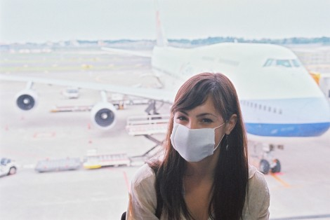 Yes, I wore a facemask for the airport/flight - I'm sure the Japanese facemask industry at least is not feeling the effects of the economy.