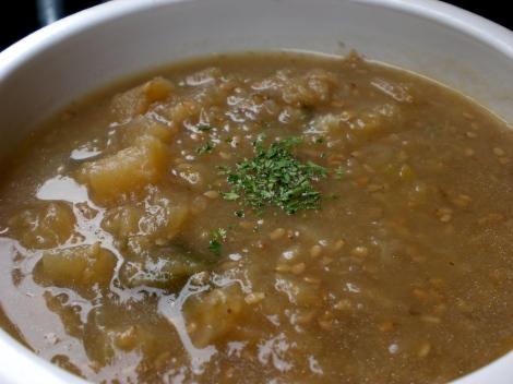 """""""Soybean milk soup of Kohlrabi & white sesame"""" - anybody know what kohlrabi is?"""
