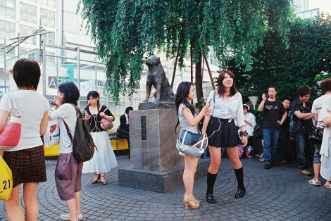 Hachiko (that dog statue) is the number one meeting place for EVERYONE in Shibuya... so I'm starting to realize that maybe its not such a good meeting place.