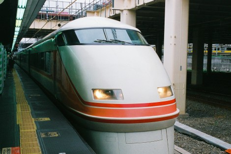 "My train, the Tobu-Nikko Express ""Spacia."""
