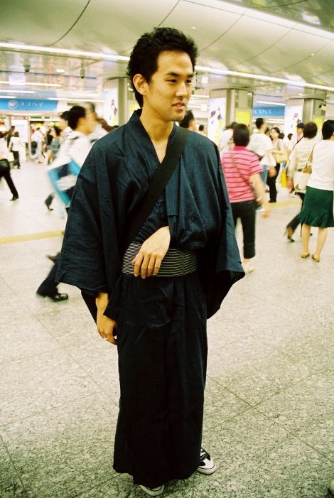 Apparently Kirk's yukata came complete with arm rest