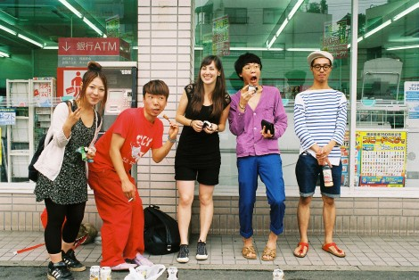 They rented a car and we took a break at 8am for beer and onigiri - haha that's a first. They're so stylish, yeah?