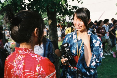 L. getting interviewed.. I wonder what she said..